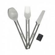Столовый набор Esbit TC4-TI, титановый (ложка, вилка, нож) с силиконовым держателем