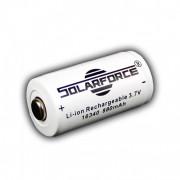 Аккумулятор 16340 (CR123) 880 mAh Solarforce (Защищен)