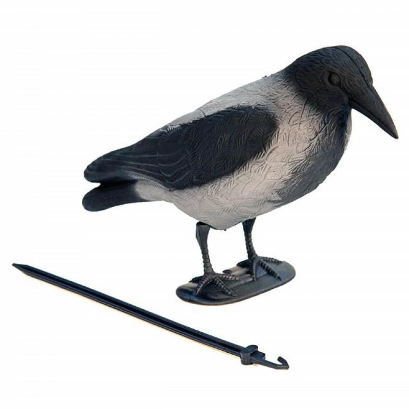 Чучело ворона серая с лапами NorthWay не сминаемая