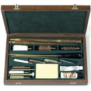 Набор Stil Crin для чистки оружия калибров 9, 9.3 и 12, деревянный кейс, шомпол-дерево.