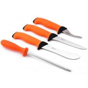 Набор профессиональных разделочных ножей EKA Butcher Set в чехле (цвет оранжевый), 730434