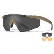 Очки Saber ADV с песочной оправой и серыми/прозрачными/оранжевыми линзами WILEY X, 308T