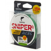 Леска плетёная Salmo Sniper BP ALL R BRAID х4 Grass Green 120/017
