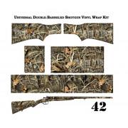 Камуфляжная пленка на двуствольное оружие, премиум текстура №42, 2stvol-premium