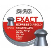 Пульки JSB Exact Express 4,5 мм (4,52) 0,51гр (500 шт) JSBEE051