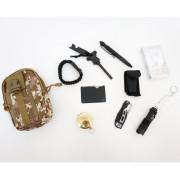 Набор для выживания из 11 предметов в сумке на пояс (BH-MK04)