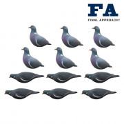 12шт Голубь вяхирь Final Approach, FA-195003 Last Pass Wood Pigeon Decoys