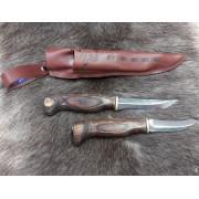 Профессиональная охотничья спарка из двух разделочных ножей 23AVK, Wood Jewel (Финляндия)