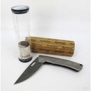 Нож LionSteel серии TiSpine Damascus, лезвие 85 мм дамасская сталь
