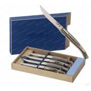 Набор филейных ножей Opinel серии Slim №10 - 4 шт, клинок 10 см, рукоять - береза