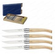 Набор филейных ножей Opinel серии Slim №10 - 4 шт, клинок 10 см, рукоять - ясень