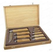Набор ножей Opinel серии Tradition № 02-12, из нержавеющей стали в деревянной коробке