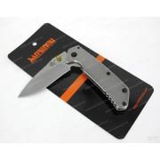 Нож Sanrenmu лезвие 71 мм, рукоять металл, крепление на ремень