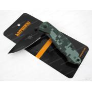 Нож Sanrenmu серии EDC, лезвие 68 мм чёрное, рукоять зелёная