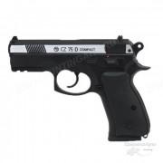 """Пневматический пистолет """"CZ-75"""" compact металл никель, подвижный затвор"""