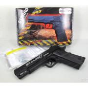 Пистолет пневматический Stalker S1911RD (аналог Colt 1911) к.4,5 мм, металл-пласт,120 м/с, блоубэк,черный. + 100 шариков