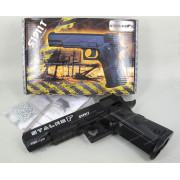"""Пистолет пневматический Stalker S1911T (аналог """"Colt 1911"""") к.4,5 мм, пластик, 120 м/с, черный, +250 шариков"""