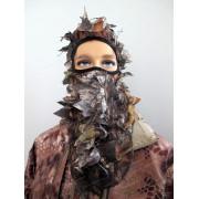 Маска маскировочная для лица с листвой