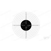 Мишень №9 для пневматических пистолетов, дистанция 10 метров