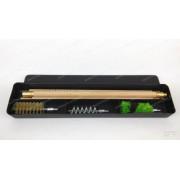 Набор для чистки, кал.12,  деревянный шомпол 3 секции, (пластик. коробка)