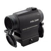 Коллиматор Holosun Micro быстросъемн.,точка/круг-точка 2/65MOA,12подсв.,+вставка,солн.бат.,U-защита,бат.лоток, HS515CU