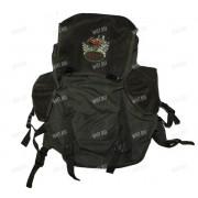 Рюкзак 25 л. брезент-сукно (цвет-зелёный) (изображение - лось)