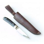 """Нож """"Капля"""", цельнометаллический клинок, рукоять микарта черная, сталь К340"""