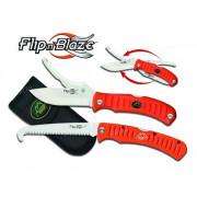 Набор OUTDOOR EDGE Flip`n`Blaze/Saw Combo: складной нож с двумя лезвиями + складная пила (блистер)