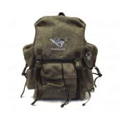 Рюкзак 25 л. брезент-сукно (цвет - коричневый) (изображение - волк)