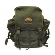 Рюкзак 25 л. брезент-сукно (цвет-зелёный) (изображение - кабан)