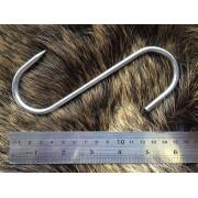 Двойной S-крюк 160х6 мм из нержавеющей стали для подвешивания мяса дичи весом до 60 кг