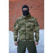 """Тактическая флисовая куртка с мембраной WindBlock GSG-8 """"Sentry-2"""", камуфляж - ATACS-FG"""