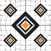 Мишени ACCU-BLUE Targets Range, размер 25х25 см от DO-ALL (упаковка 24 шт.)