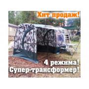 """Мобильная баня/палатка серии """"эконом"""" ТЕРМА-4 соты (один слой, большой тамбур, печь """"Миди"""")"""