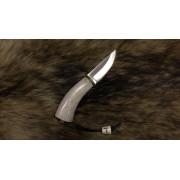 """Нож """"Барбус"""", клинок - Х12МФ(т), рукоять - рог оленя, """"скрим-шоу"""""""