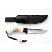 """Нож """"Лиман"""", вар.1, рукоять - рог оленя, граб, """"скрим-шоу"""", клинок - Х12МФ"""