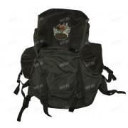 Рюкзак 45 л. брезент-сукно (цвет-зелёный) (изображение - лось)