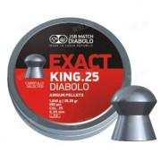 Пули для пневматики JSB Exact King 6,35 мм 1,645 грамма (350 шт.)