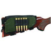 Наприкладный патронташ для 5 нарезных патронов, c дополнительным карманом и подщёчником, Allen