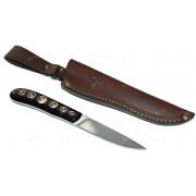 """Нож """"Капля"""", цельнометаллический клинок, рукоять микарта, сталь Х12МФ"""