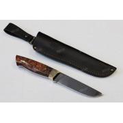 """Нож """"Аквилон"""", цельнометаллический клинок, рукоять микарта розовая, сталь К340"""