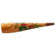 """(EZIZ-002) Эксклюзивный манок ручной работы из кедра на изюбря и марала, рисунок """"Ягодная Ветвь"""""""