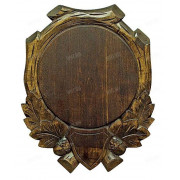 Медальон для клыков кабана. Дерево. Диаметр 17 см