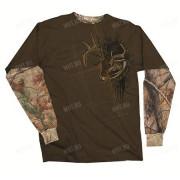 Толстовка BUCK WEAR Side Buck, цвет коричневый + камуфляж