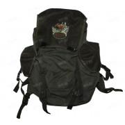 Рюкзак 25 л. брезент-сукно (цвет-зелёный) с креплением под ремни (изображение - лось)