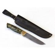 """Нож """"Аквилон"""", цельнометаллический клинок, рукоять микарта зеленая, сталь К340"""