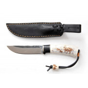 """Нож """"Лиман"""", вар.2, рукоять - рог оленя, граб, """"скрим-шоу"""", клинок - Х12МФ"""