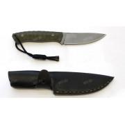"""Нож """"Бобр"""", рукоять G10 (3D), зеленая, сталь D2"""