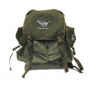 Рюкзак 25 л. брезент-сукно (цвет-зелёный) (изображение - волк)