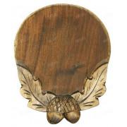 Медальон для клыков кабана. Дерево. Диаметр 16 см